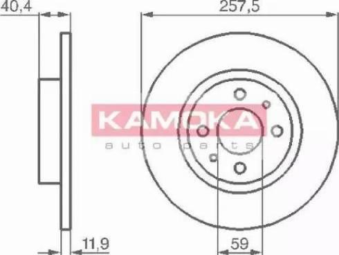 Kamoka 103282 - Bremžu diski interparts.lv