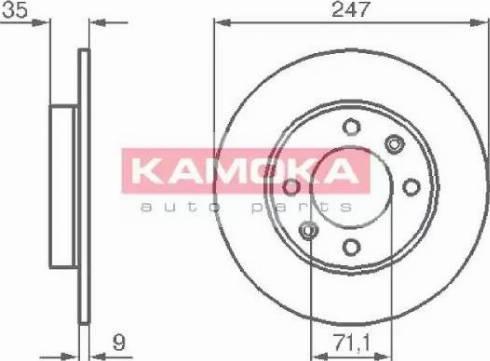 Kamoka 1032356 - Bremžu diski interparts.lv