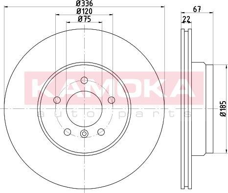 Kamoka 103230 - Bremžu diski interparts.lv