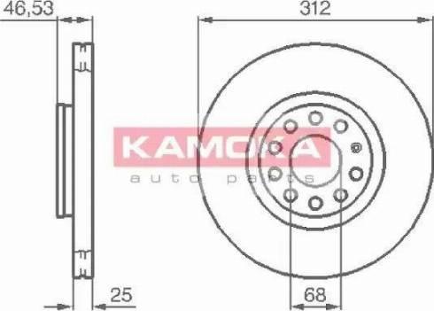 Kamoka 1032312 - Bremžu diski interparts.lv