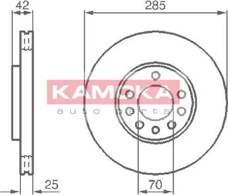 Kamoka 1032382 - Bremžu diski interparts.lv