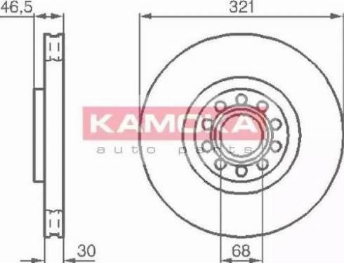 Kamoka 1032332 - Bremžu diski interparts.lv