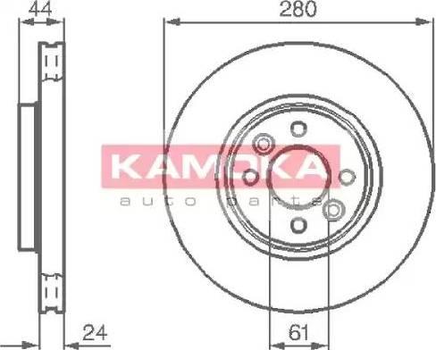Kamoka 1032248 - Bremžu diski interparts.lv
