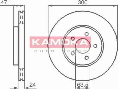 Kamoka 1032250 - Bremžu diski interparts.lv