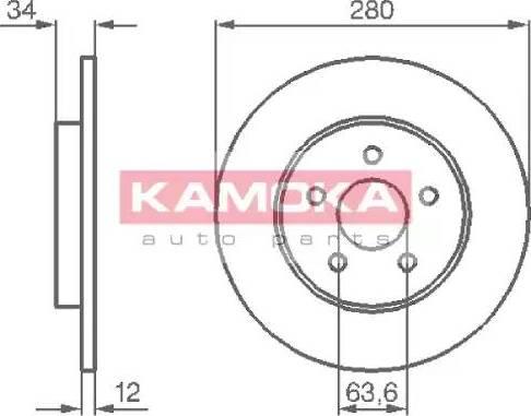 Kamoka 1032252 - Bremžu diski interparts.lv