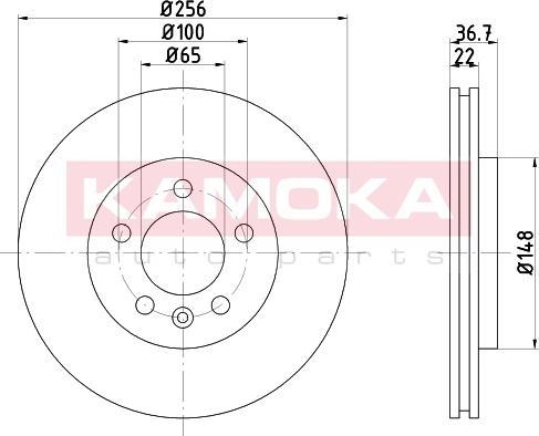 Kamoka 103225 - Bremžu diski interparts.lv