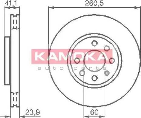 Kamoka 1032262 - Bremžu diski interparts.lv