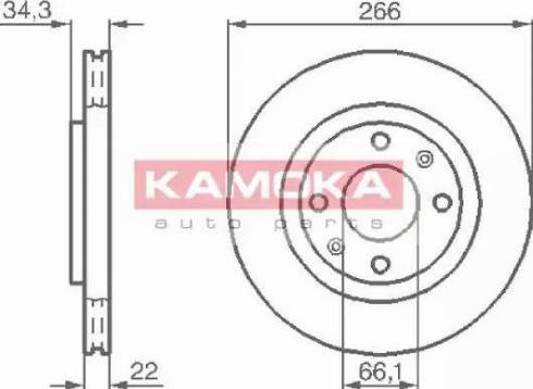 Kamoka 1032280 - Bremžu diski interparts.lv