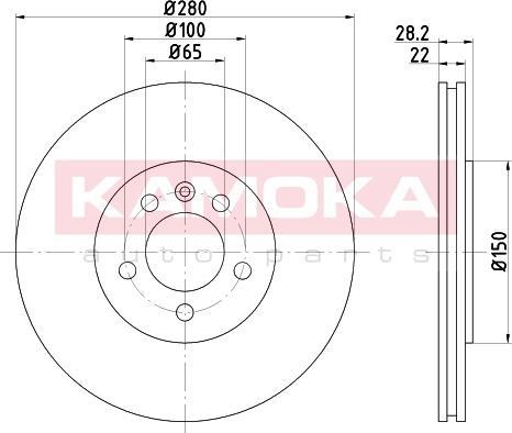 Kamoka 103223 - Bremžu diski interparts.lv