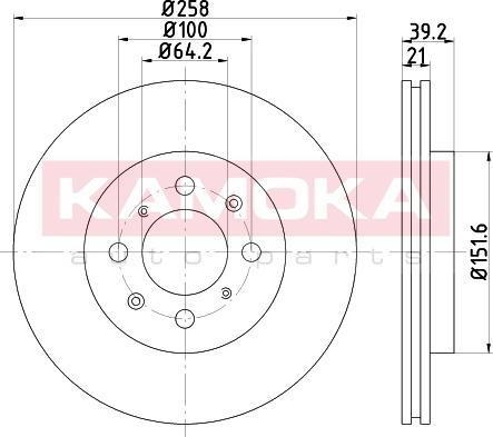 Kamoka 103222 - Bremžu diski interparts.lv
