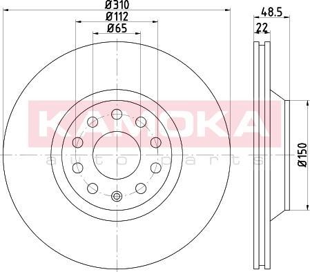 Kamoka 103227 - Bremžu diski interparts.lv