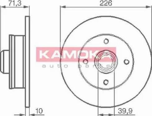 Kamoka 103274 - Bremžu diski interparts.lv