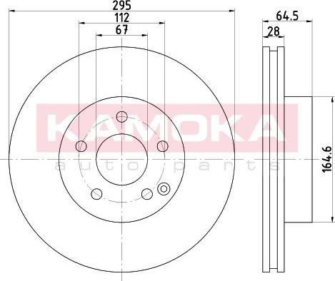 Kamoka 103271 - Bremžu diski interparts.lv