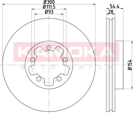 Kamoka 103273 - Bremžu diski interparts.lv