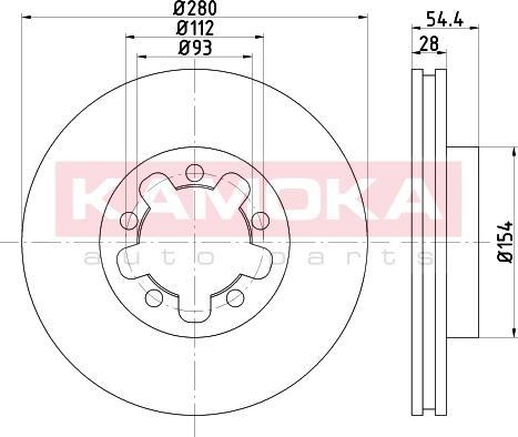 Kamoka 103272 - Bremžu diski interparts.lv