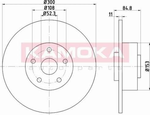 Kamoka 1032772 - Bremžu diski interparts.lv