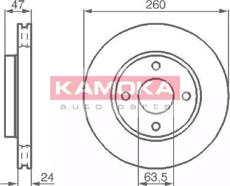 Kamoka 103728 - Bremžu diski interparts.lv