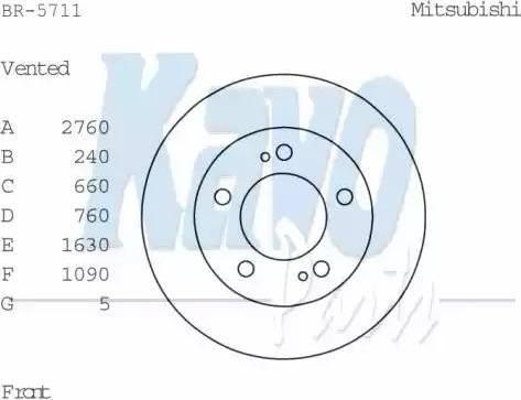 Kavo Parts BR-5711 - Bremžu diski interparts.lv