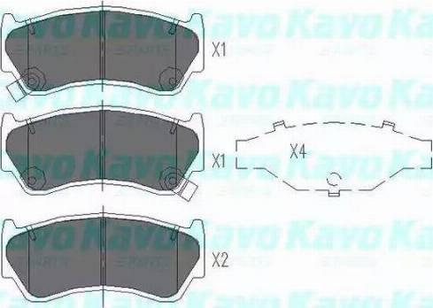 Kavo Parts KBP-6508 - Bremžu uzliku kompl., Disku bremzes interparts.lv