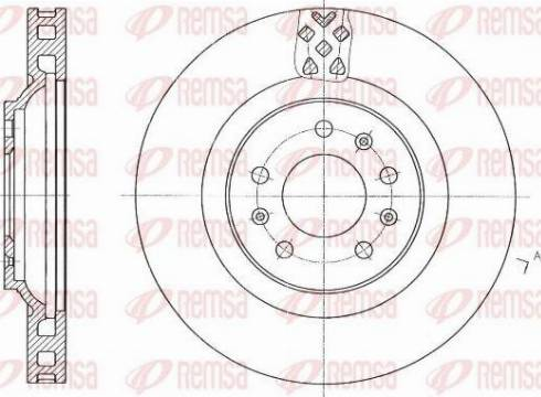 Kawe 61769 10 - Bremžu diski interparts.lv