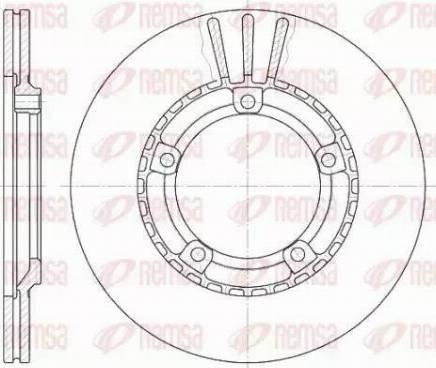 Kawe 6870 10 - Bremžu diski interparts.lv