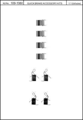 Kawe 109-1060 - Piederumu komplekts, Disku bremžu uzlikas interparts.lv