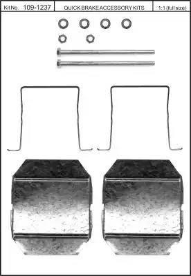 Kawe 109-1237 - Piederumu komplekts, Disku bremžu uzlikas interparts.lv