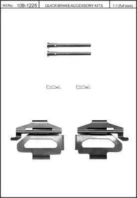 Kawe 109-1225 - Piederumu komplekts, Disku bremžu uzlikas interparts.lv