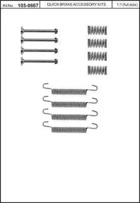 Kawe 105-0667 - Piederumu komplekts, Stāvbremzes mehānisma bremžu loks interparts.lv