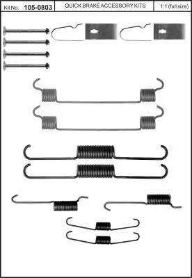 Kawe 105-0803 - Piederumu komplekts, Bremžu loki interparts.lv