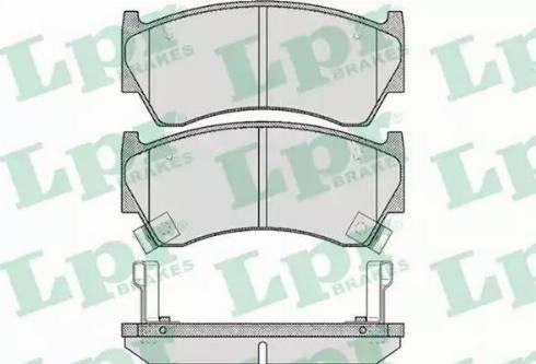 LPR 05P617 - Bremžu uzliku kompl., Disku bremzes interparts.lv