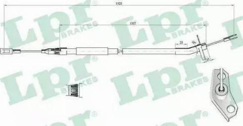 TRW GCH3005 - Trose, Stāvbremžu sistēma interparts.lv