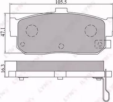 LYNXauto BD-5702 - Bremžu uzliku kompl., Disku bremzes interparts.lv