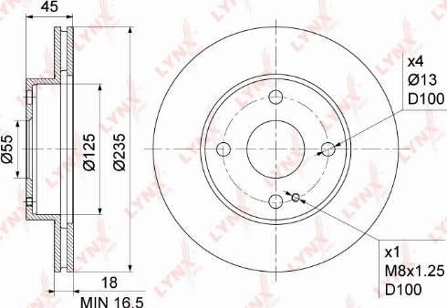 LYNXauto BN-1070 - Bremžu diski interparts.lv