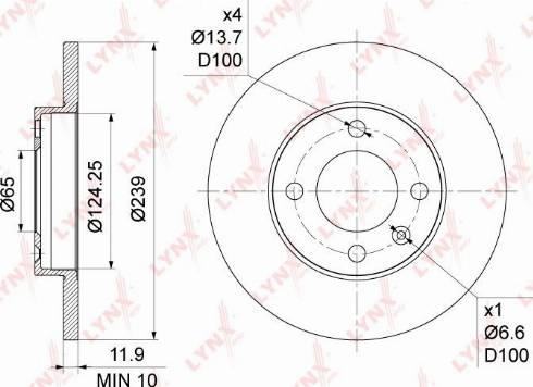LYNXauto BN-1191 - Bremžu diski interparts.lv