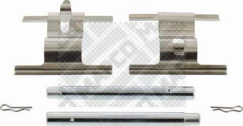 Mapco 9642 - Piederumu komplekts, Disku bremžu uzlikas interparts.lv