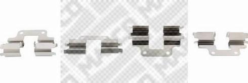 Mapco 9638 - Piederumu komplekts, Disku bremžu uzlikas interparts.lv
