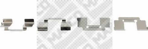 Mapco 9632 - Piederumu komplekts, Disku bremžu uzlikas interparts.lv