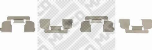 Mapco 9625 - Piederumu komplekts, Disku bremžu uzlikas interparts.lv