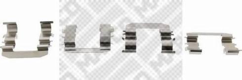 Mapco 9626 - Piederumu komplekts, Disku bremžu uzlikas interparts.lv