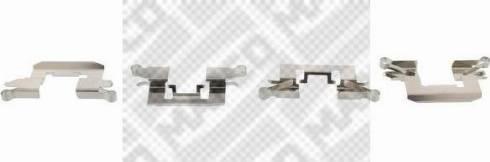Mapco 9627 - Piederumu komplekts, Disku bremžu uzlikas interparts.lv