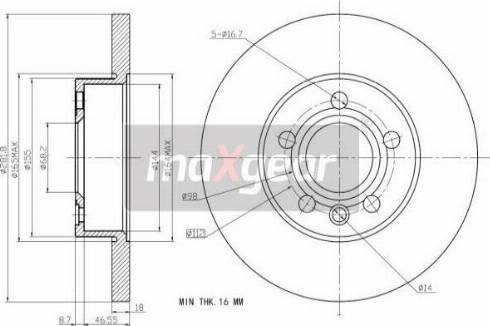 Maxgear 19-0990 - Bremžu diski interparts.lv