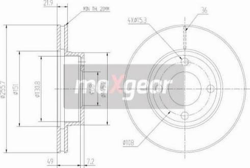 Maxgear 19-0997 - Bremžu diski interparts.lv