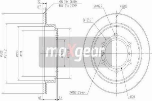Maxgear 19-0949 - Bremžu diski interparts.lv