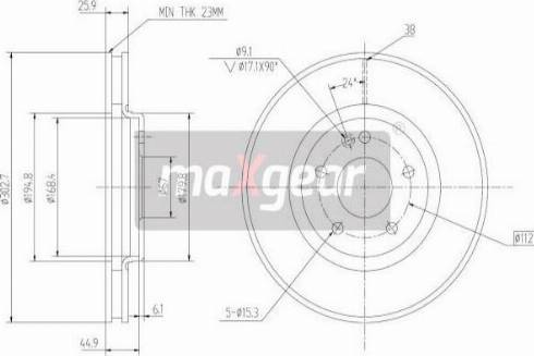 Maxgear 19-0947 - Bremžu diski interparts.lv