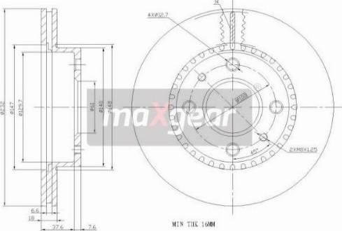 Maxgear 19-0950 - Bremžu diski interparts.lv