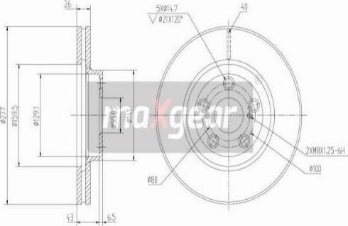 Maxgear 19-0968 - Bremžu diski interparts.lv