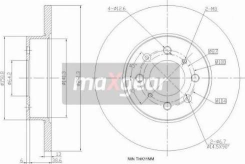 Maxgear 19-0988 - Bremžu diski interparts.lv