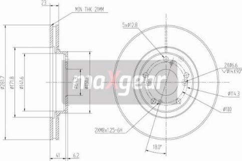 Maxgear 19-0925 - Bremžu diski interparts.lv