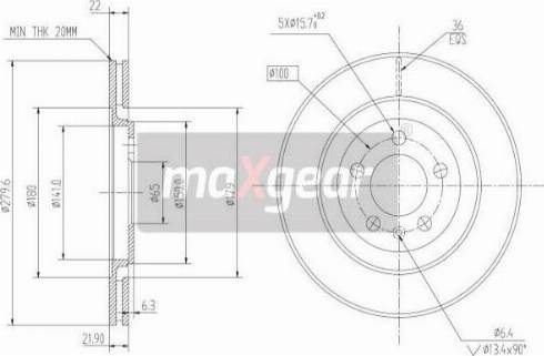 Maxgear 19-0976 - Bremžu diski interparts.lv